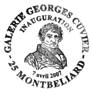 Georges Cuvier on commemorative postmark of France 2007