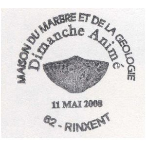 Shell Fossil on commemorative postmark of France 2008