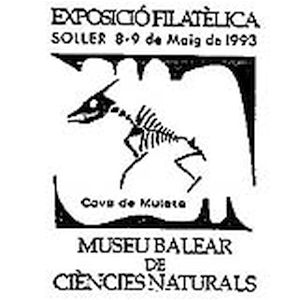 Pterosaurus fossil on commemorative postmark of Spain 1993