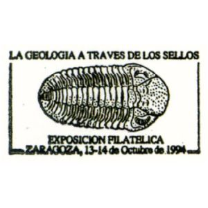 Trilobie on commemorative postmark of Spain 1994