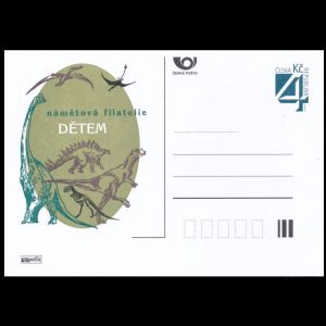Dinosaurs on personalized postal stationery of Czech Republic 1998