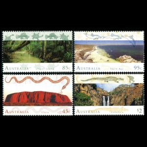 Fossil found places on stamps of Australia 1993