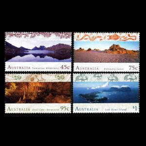 Fossil found places on stamps of Australia 1996