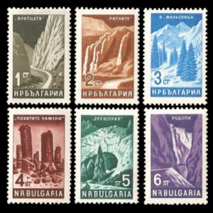 Pobiti Kamani on landscape stamp of Bulgaria 1964