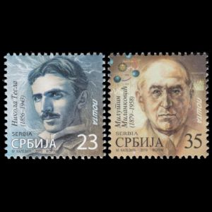 Milutin Milankovic on stamp of Serbia 2019
