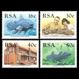 Identification of the coelacanth on stamps of South Africa 1989
