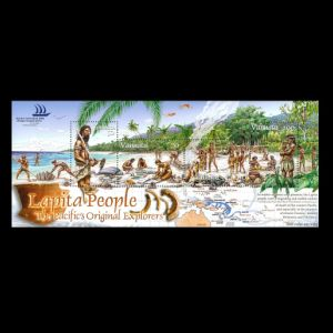 Early humans o nstamps of Vanuatu 2005