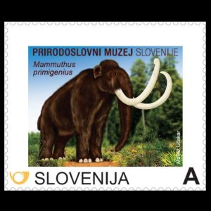 Mammoth on personalized stamp of Slovenia 2013, Click for details