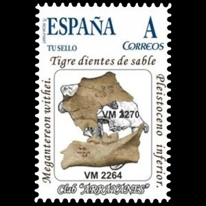 Mammuthus Primigenius on personalized stamps of Spain 2012