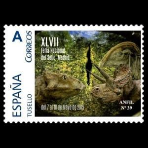 Dinosaurs on personalized stamps of Spain 2015