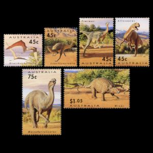 dinosaurs on stamps of Australia 1994