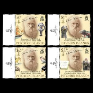 Charles darwin stamps of Pitcairn islands from 2009