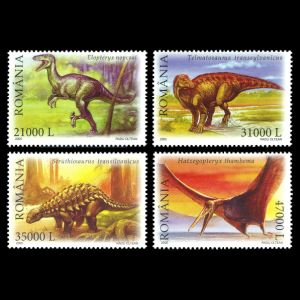 Dinosaurs on stamps of Romania 2005