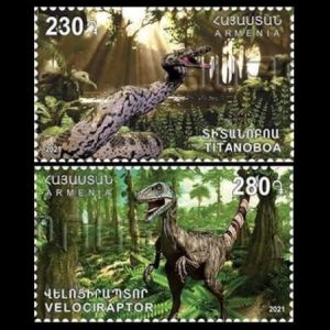 Prehistoric animals on stamps of Armenia 2021