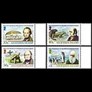 Charles Darwin on stamps of Ascension Islands from 2009