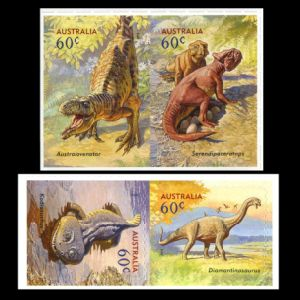 Dinosaurs on self-adhesive stamps of Australia 2013
