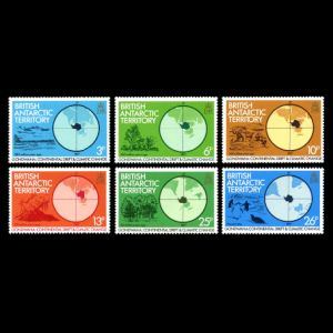Prehistoric animals and plants on continental drift stamps of British Antarctic Territory 1982