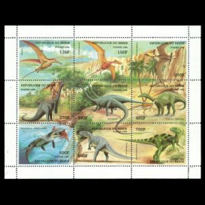 Dinosaurs and other prehistoric animals on stamps of Benin 1998