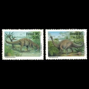 Dinosaurs on stamps of Brazil 1995