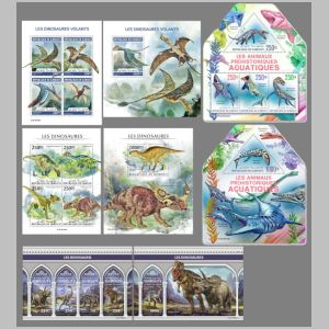Dinosaurs on stamp of Djibouti 2019