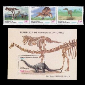 Prehistoric animals on stamps of Equatorial Guinea 2001