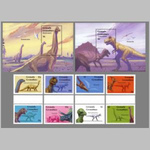 Dinosaurs on stamps of Grenada 1994