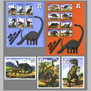 Dinosaurs on stamps of Grenada 1999