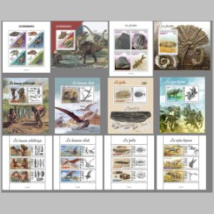 Dinosaurs and other prehistoric animals on stamps of Guinea 2021
