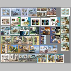 Dinosaurs and other prehistoric animals on stamps of Guinea Bissau 2021