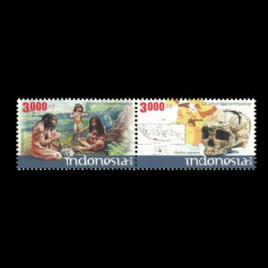 Homo erectus on stamps of Indonesia 2014