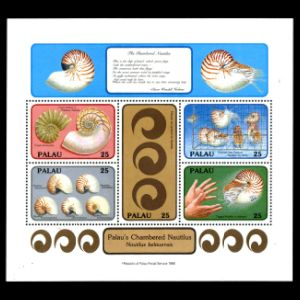 prehistoric animals on stamps of Palau 1988