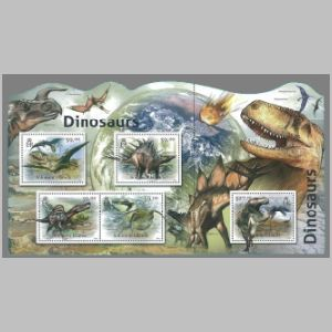 Dinosaurs on stamps of Solomon islands 2012