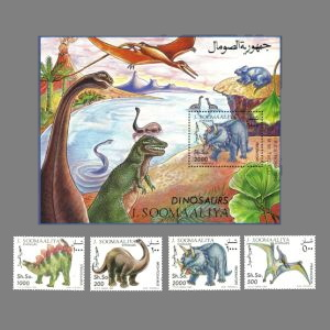 dinosaurs on stamps of Somalia 1993