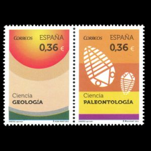 Paleontology and Geology on stamps of Spain 2012