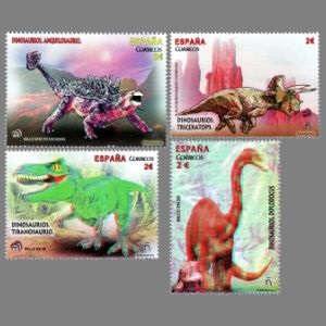 Dinosaurs on stamps of Spain 2015