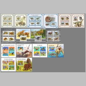 Dinosaurs and other prehistoric animals on stamps of Togo 2021