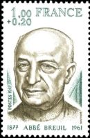 Abbe (Henri) Breuil on stamp