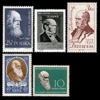 Charles Darwin on stamps of year 1959